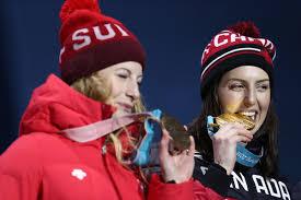 Kelsey Serwa, Fanny Smith - Fanny Smith Photos - Medal Ceremony ...
