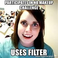 pares in no makeup challenge