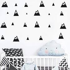 Amazon Com The Boho Design Montana Puntiaguda Negra Wall Vinyl Sticker Decal Decor Nursery Adhesive Mountains For Kids Baby Nordic Bedroom Decoration Home Kitchen
