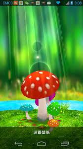 live wallpaper has mushroom gr trees