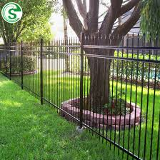 China Factory Boundary Wall Security Fence Spike Tubular Garden Fencing China Ornamental Iron Fencing And Front Yard Metal Fencing Price