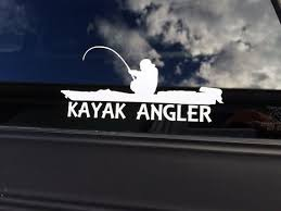 Vinyl Kayak Angler Decal Kayak Angler Sticker Kayak Fisherman Kayak Fishing Decal Kayak Decak Kayak Sticker Kayak Fishing Setup Kayaking Kayak Decals