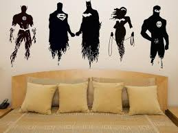 Justice League Get All 5 Superheroes Batman Superman Green Lantern Wonder Woman Flash Wall Art Decal Picture Stickers Poster Decorate In 2020 Superman Wall Art Batman Wall Decal Wall Art