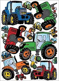 Amazon Com Tractor Wall Decals Stickers Tractors Wall Decor Home Kitchen