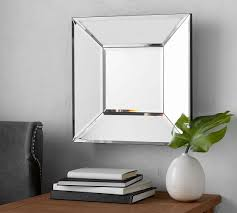 beveled glass square mirror pottery barn