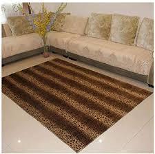 animal print faux fur area rugs