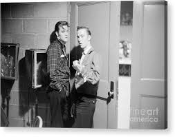 Elvis Presley and his cousin Gene Smith 1956 Acrylic Print by The  Harrington Collection
