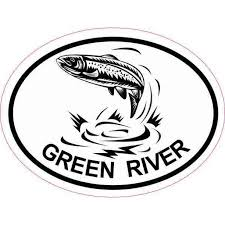 4inx3in Oval Trout Green River Sticker Car Decal Luggage Fishing Stickers Walmart Com Walmart Com