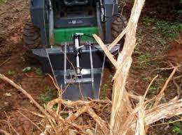 homemade skidsteer stump bucket