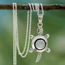 silver turtle pendant necklace