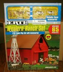 Zfn12279 Ertl 1 64 Scale Dairy Barn Set With Animals Fencing Plastic Age 5