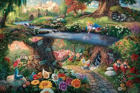 alice in wonderland cartoon wallpaper