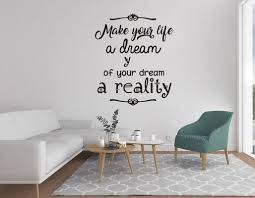 Quote Wall Decal Make Your Life A Dream Wall Decal Sticker Nursery For Home Decor Krafmatics