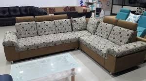 nice wood sofa set shape l shape rs