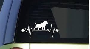 American Bully Heartbeat Lifeline I190 8 Wide Sticker Decal Pitbull Pit Bull 788679543966 Ebay