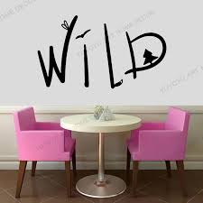 Wall Decal Wild Nature Wild Lettering Animals Forest Word Vinyl Sticker For Morder Home Wall Decoration Removable Murals Rb 120 Wall Stickers Aliexpress