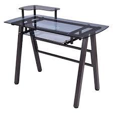 com glass top computer desk
