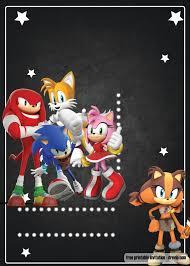 Free Printable Sonic The Hedgehog Invitation Template Fiestas De