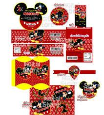 Invitaciones Personalizadas Mickey Mouse