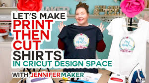 Make Print Then Cut T Shirts With Your Cricut The Right Way Youtube