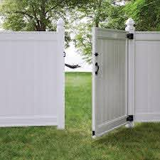 Freedom Everton 6 Ft H X 4 Ft W White Vinyl Fence Gate In The Vinyl Fence Gates Department At Lowes Com