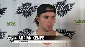 2017 Ontario Reign Exit Interview - Adrian Kempe - YouTube