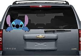 Stitch Laptop 18 Car 3d Wall Decal Sticker 7 24or 36 Peeking Lilo Reaching 14