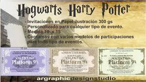 Tarjeta Invitacion Cumpleanos Quince Hogwarts Harry Potter
