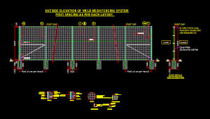 Weld Mesh Fencing System Dwg Block For Autocad Designs Cad