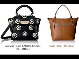 fossil fiona tote brown