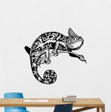 Chameleon Wall Decal Lizard Animals Vinyl Sticker Bedroom Decor Poster 131hor Ebay