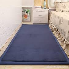 Higogogo Bedside Rug Tatami Style Protection Pad Safety Mat Runner Rug For Bedroom Living Room Non