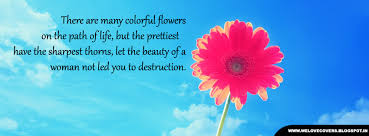 love quotes and covers colorful flowers on the path of life