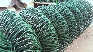 1800mm Wide 6ft Green Pvc Coated Chainlink Fence 10 Mtr Plastic Steel Mesh