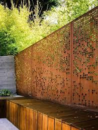 Perforated Steel Plate Airy Garden Fence Corten Dream Gardening Trends Modern Landscape Design Modern Landscaping Landscape Design