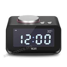 inlife dual alarm clock bedside clock