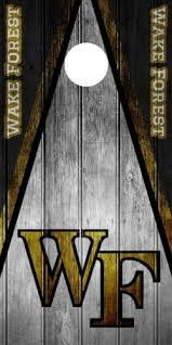 Single Wake Forest University Cornhole Wrap Skin Decal Vinyl Ncaa Logo Dt196 Cornhole Bag Toss