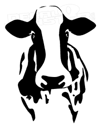 Dairy Cow Head Silhouette Decal Sticker Dm Decal Max