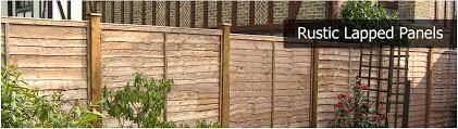 Rustic Lapped Panels Fencing Installation Repair Surrey