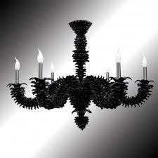narciso black murano glass chandelier