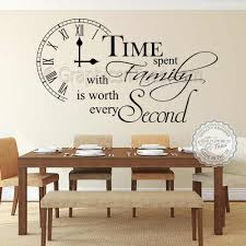 Time Spent With Family Is Worth Every Second Wall Sticker Inspirational Quote Home Vinyl Wall Art Decor Decal