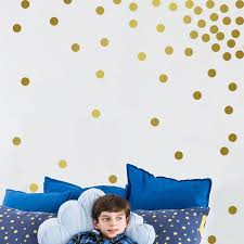 Gold Polka Dots Wall Stickers Kids Room Baby Room Wall Decals Nursery Diy Wallpaper Vinyl Wall Sticker Children Home Decoration Wall Stickers Aliexpress