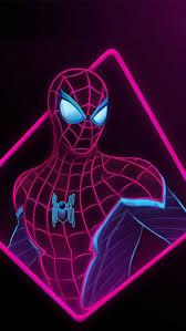 spider man neon iphone wallpaper free