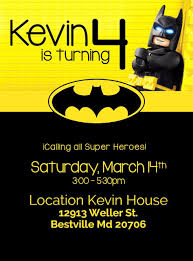 Batman Birthday Invitation Batman Printable Or Printed Invitation
