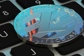 Litecoin on laptop keyboard free image download