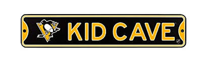 Authentic Street Signs Nhl Hockey Officially Licensed Steel Kid Cave Sign Decor For Sports Fan Bed Room Pittsburgh Penguins Wantitall