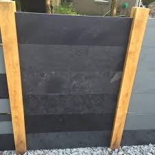 Black Slate Fence Panels Natural Stone Fencing Rr Stone