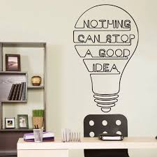 Inspirational Quotes Wall Decals Motivational Decal Office Quote Wall Stickers Light Bulb Decor For Office 3247 Wall Stickers Aliexpress
