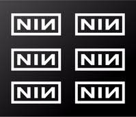 Nine Inch Nails Small 2 Nin Vinyl Decals Laptop Helmet Phone Stickers Kandy Vinyl Shop
