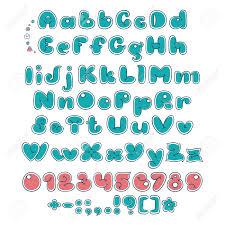 bubble double font comic alphabet handwritten calligraphy